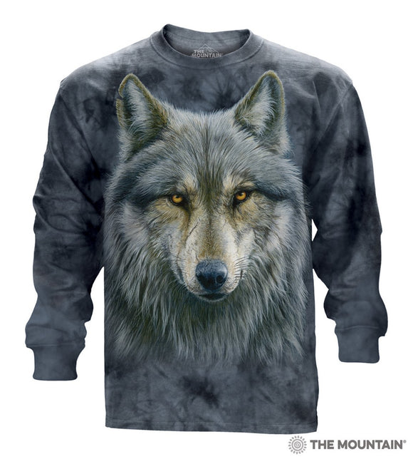 Warrior Wolf - Adult Unisex Long Sleeve T-Shirt