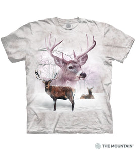 Wintertime Deer - Adult Unisex T-Shirt