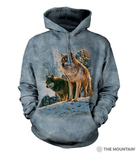 Wolf Couple Sunset - The Mountain - 3D Hoodie Animal Sweatshirt