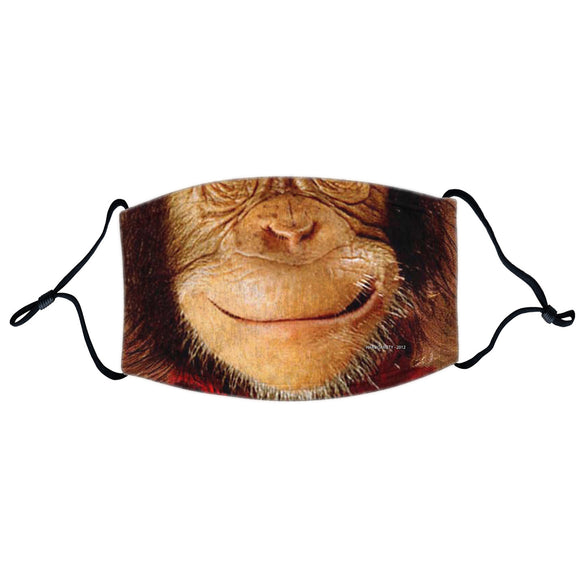 Animal Pride - Chimp Face - Adult Adjustable Face Mask