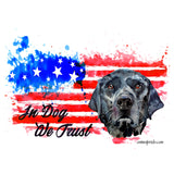 Watercolor Black Lab In Dog We Trust - Adult Unisex Face Mask
