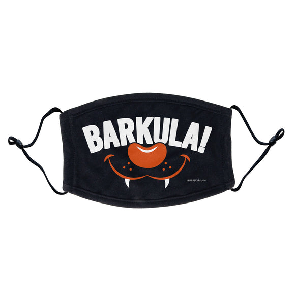 Barkula - Dracula Dog Halloween Face Mask - Breathable, Adjustable