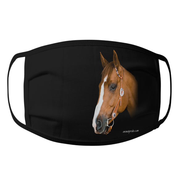 Animal Pride - Majestic Brown Horse - Adult Unisex Face Mask