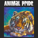 Animal Pride Tiger Left Chest - Adult Unisex T-Shirt