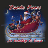 Santa Paws is Coming - Adult Tri-Blend T-Shirt