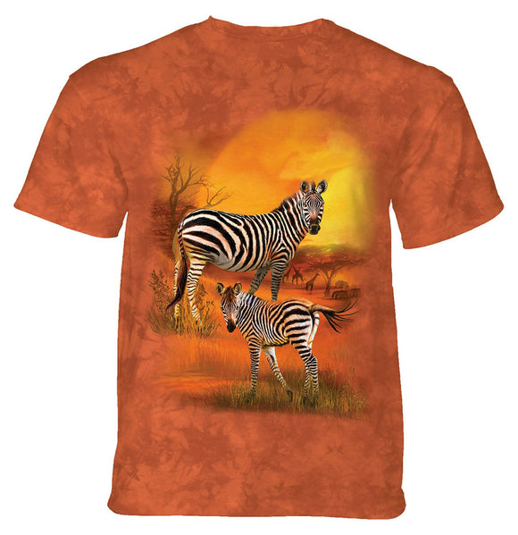 The Mountain - Mama And Baby Zebra - Adult Unisex T-Shirt