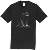 Black Hawk Eagle on Black - Adult Unisex T-Shirt