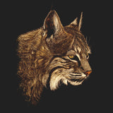 Bobcat Portrait on Black - Adult Unisex T-Shirt