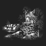 Bobcat Resting on Black - Adult Unisex T-Shirt