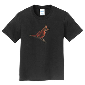Cardinal on Black - Kids' Unisex T-Shirt
