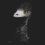 Emu on Black - Adult Unisex T-Shirt