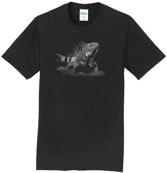 Iguana on Black - Adult Unisex T-Shirt