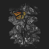 Monarch Butterflies on Black - Adult Unisex T-Shirt