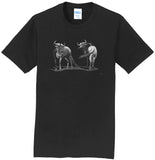 Wildebeest on Black - Adult Unisex T-Shirt