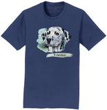 Dalmatian Face Art - Adult Unisex T-Shirt
