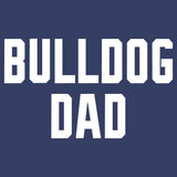 Bulldog Dad Block Font - Adult Unisex T-Shirt