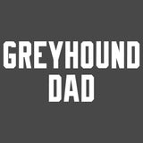 Greyhound Dad Block Font - Adult Unisex T-Shirt
