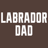 Labrador Dad Block Font - Adult Unisex T-Shirt