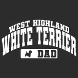 West Highland White Terrier Dad - Sport Arch - Adult Unisex Hoodie Sweatshirt
