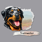 Rottweiler Face Art - Adult Unisex T-Shirt