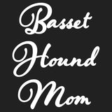 Basset Hound Mom - Script - Women's Fitted T-Shirt