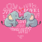 Love Heart Elephants - Women's Tri-Blend T-Shirt