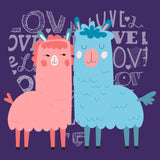 Love Heart Llamas - Women's Fitted T-Shirt
