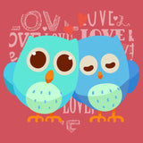 Love Heart Owls - Women's Tri-Blend T-Shirt