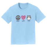 Peace Love Cats - Kids' Unisex T-Shirt