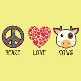 Peace Love Cows - Women's Fitted T-Shirt