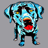 Pop Art Blue Lab - Adult Unisex T-Shirt