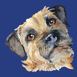 Border Terrier Portrait - Women's Fitted T-Shirt