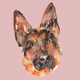 German Shepherd Portrait - Women's Fitted T-Shirt