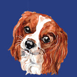 King Charles Spaniel Portrait - Women's Fitted T-Shirt
