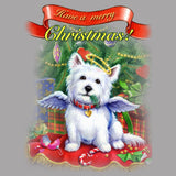 Merry Christmas Westie - Women's Fitted T-Shirt
