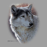 Backlit Wolf - Adult Tri-Blend T-Shirt