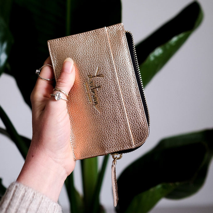 CARD-ETUI WALLET ROSE GOLD