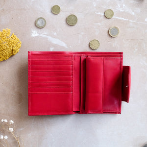 MEDIUM WOMAN'S WALLET- RED
