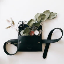 Load image into Gallery viewer, HANDMADE BELT PURSE BLACK