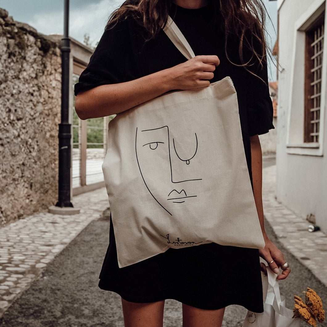 SHOPPING TOTE BAG-FACE