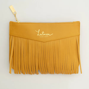 HANDMADE LEATHER HAND WALLET-FRINGES
