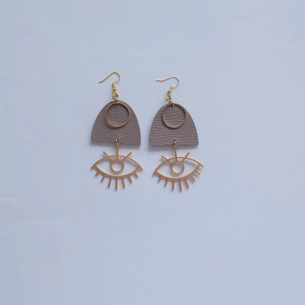 HANDMADE LEATHER EARRINGS EYES - NOW ONLY 17 EUR