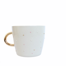 Load image into Gallery viewer, VIENNA CAPPUCINO MUG-PINK DOTS