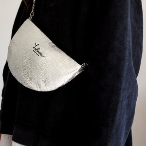 MOON CLUTCH BAG - SILVER