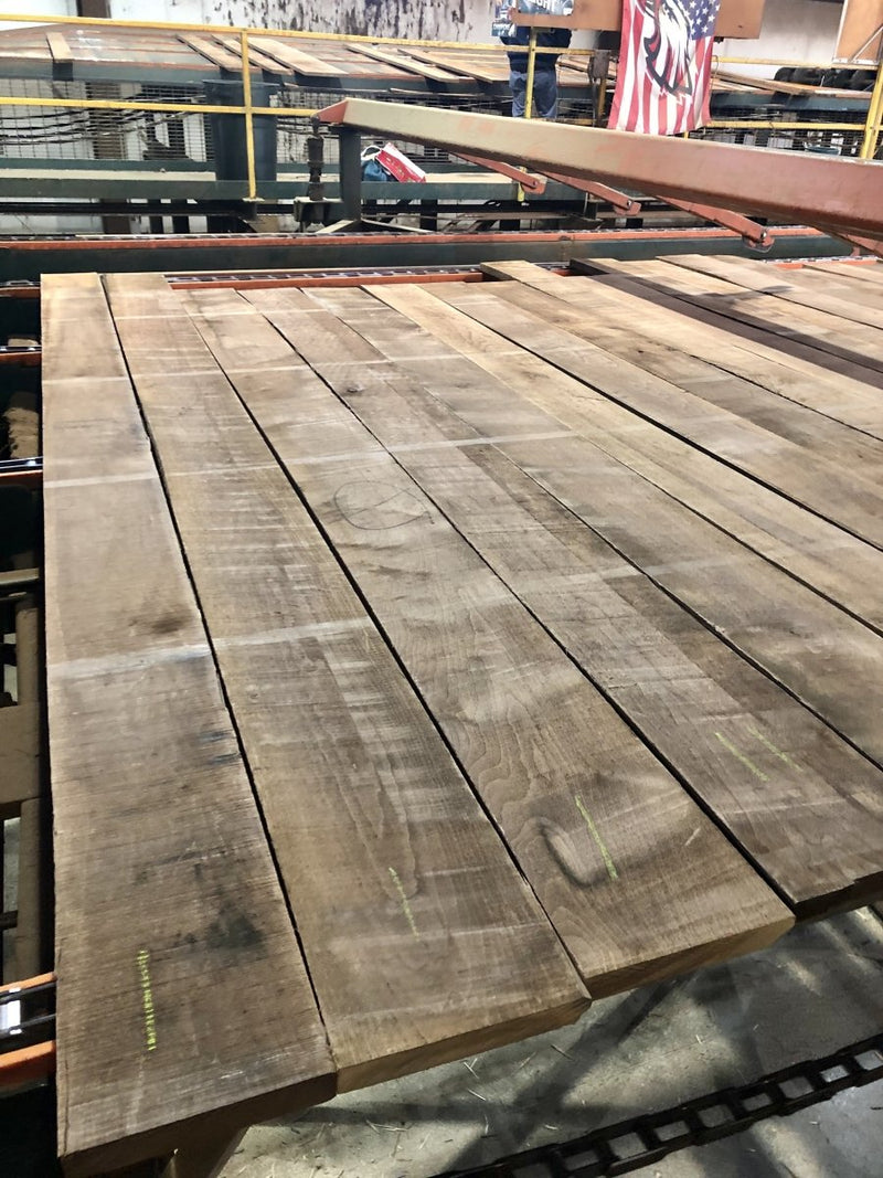 "100 BF Pack 4/4 5-6"" Prime Walnut Lumber 7-8' long - AMC Hardwoods"