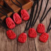 Propitious Red Buddha Protector Amulet