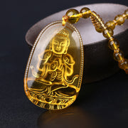 Citrine Protection Buddha Necklace