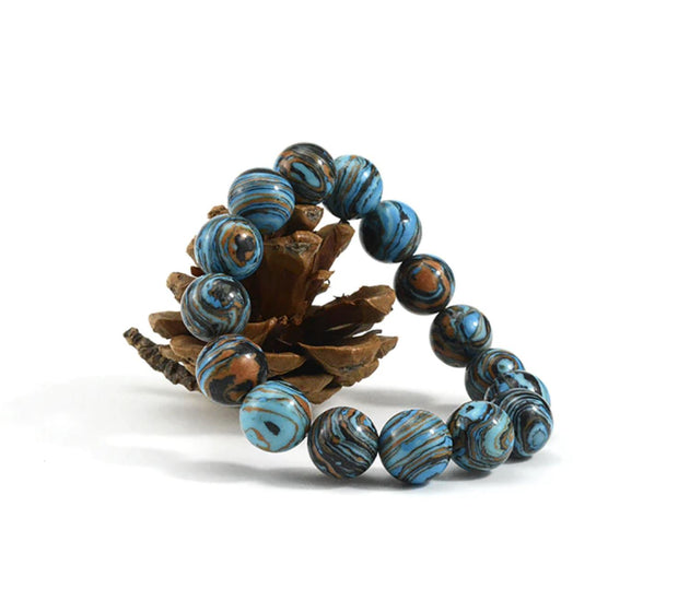 Blue Malachite Positivity Bead Bracelet