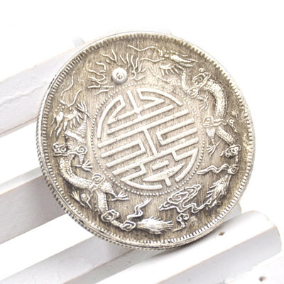 Ancient Feng Shui Double Dragon Auspicious Coin
