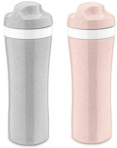 Grey and Pink Sports Bottles